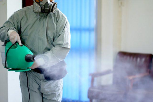 оказание услуг по дезинфекции помещений